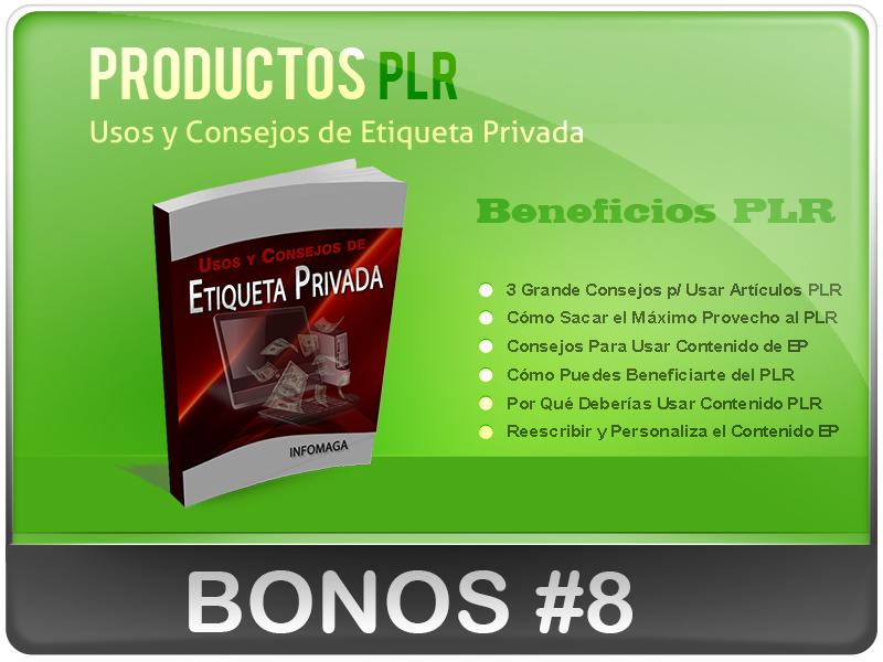 Bonos Super Especiales de los Productos PLR